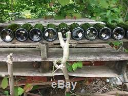 10 Antique Black Glass Bottles from Louisville Kentucky lady leg pontil