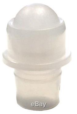 10 ML, 1/3 oz Roll on Clr Glass Pln Bottle with Housing & Black Caps, Qty 864 Pcs