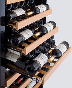 115 Bottle Single Zone Wine Cooler Refrigerator Stainless Steel Glass Door