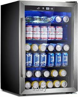 120 Cans or 36 Bottles Beverage Refrigerator or Wine Cooler with Glass Door