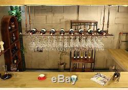 150x30CM Fashion Bar Wine Glass Hanger Bottle Holder Hanging Rack Organizer