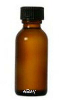 15 ml (1/2 OZ) Boston Round Amber with Black Caps (Case of 720 Pcs)