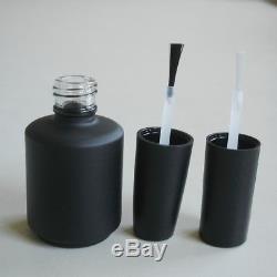 15ml Matte Black Empty UV Gel Nail Polish Glass Bottles, One carton 324 pcs