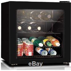 16-Bottle Wine Cooler Refrigerator Beverage Drinks Bar Fridge Glass Door Mini