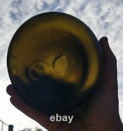 1700's BLACK GLASS ONION SHIPWRECK BOTTLE