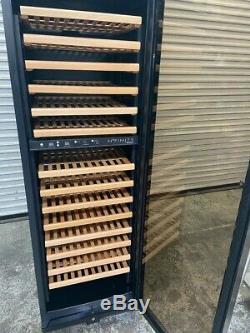 170 Bottle Wine Cooler Glass Door Dual Temp Zone Refrigerator Enthusiast #3738