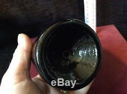18/19Th Century Black Glass Mallet Bottle