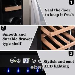 18 Bottles Glass Cooler Drinks Wine Fridge Beverage Mini Bar Refrigerator