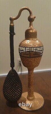 1920's DeVilbiss Lush Encrusted Gold & Black Perfume Atomizer Bottle 7