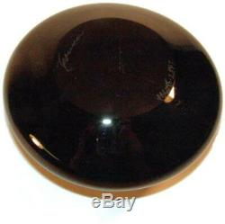 1989 Steven Correia Art Glass Black Perfume Bottle Ltd Edition with Frog Polliwogs