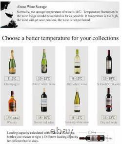 19 Bottles Wine Cooler Compressor Fridge Chiller Cellar withMetal Shelf Glass Door