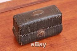 19th Century Travelers 3 Bottle Scent, Perfume Casket, Bottle Coffin Case