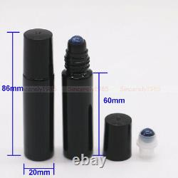1X144X THICK 10ml Roll On Glass Bottles Steel Roller Ball for Essential Oils