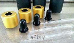 200 lot of Black & Gold Glass 30mL Dropper Bottles vape, oils, essential