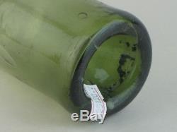 25120 Old Antique Glass Bottle Black Wine Freeblown Mallet Utility MINIATURE