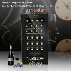 28 Bottle Wine Cooler Counter Top Wine Cellar Chiller Compressor Glass Door