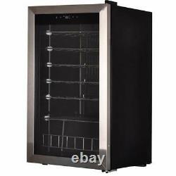28 Bottles Wine Refrigerator Wine Cooler Bar Glass Door Beverage Beer Cooler