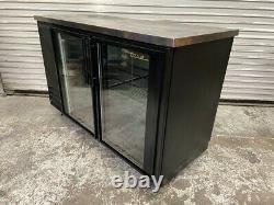2 Glass Door Back Bar Refrigerator Beer Bottle Wine Display Cooler True #5879