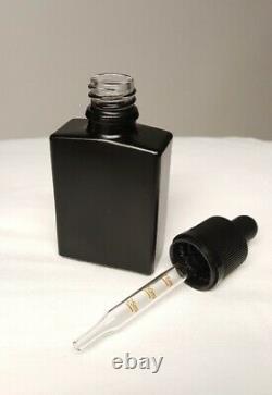 30ml Blk Frost Glass Squ. Bottle/Dropr Quan = 500 @ $375 Free SHIP near NY
