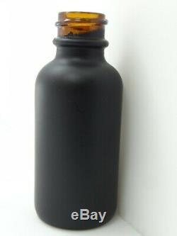 30ml Boston round glass bottles MATTE BLACK COATED AMBER 360pcs BLACK CRC CAPS