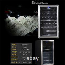 35 Bottles Glass Door Beverage & Wine Cooler Undercounter Mini Bar Drinks Fridge