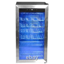 35 Bottles Wine Cooler Compressor Fridge Cellar Glass Door Beverage Cooler