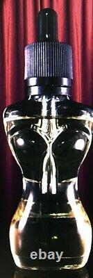 35ml female silhouette clear glass bottles with black eye dropper cap- 100 pk
