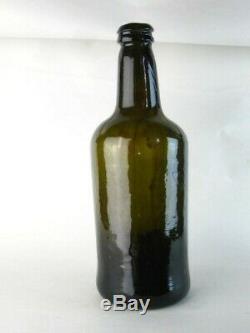 38592 Old Antique Freeblown Black Glass Wine Bottle Pontil English Mallet