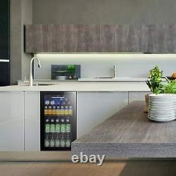 3.2 cu. Ft Beverage Cooler Wine Fridge 120 Can or 60 Bottles Capacity Glass Door