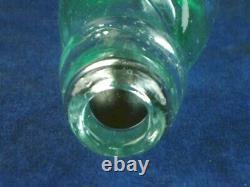 45769 Old Vintage Antique Glass Bottle Codd Hamilton Patent Black Marble Leith