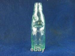 45770 Old Vintage Antique Glass Bottle Codd Patent Black Marble Edinburgh 6oz