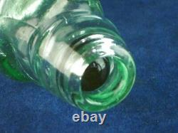 45772 Old Vintage Antique Glass Bottle Codd Patent Black Marble London White