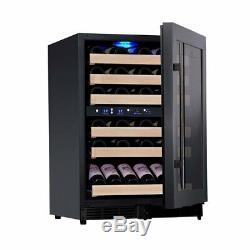 46 Bottles 24 Inch Under Counter Dual Zone Wine Cooler Drinks