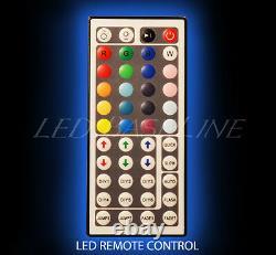 50 LED BOTTLE BAR RACK SHELF, Two Steps, Color Changing Lights, Glass Display