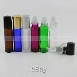 6144PCS 10ml THICK Glass Roll On Bottles GLASS ROLLER BALL for Essential Oils
