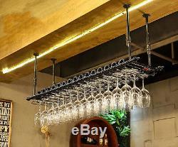 80x30CM Fashion Bar Wine Glass Hanger Bottle Holder Hanging Rack Organizer