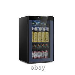 85 Cans or 24 Bottles Beverage Refrigerator or Wine Cooler with Glass Door