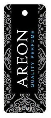 AREON MCP01 Glass Bottle Lux Car Air Freshener Perfume Cologne Spray, Black 50ml