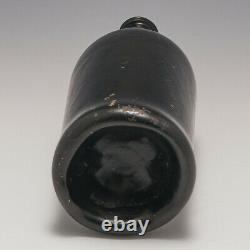 A'Black Glass' Cylinder Wine Bottle c1780