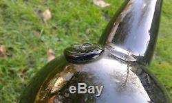 A Lovely Sealed (Dragon Head) Large Magnum size Black Glass Bottle
