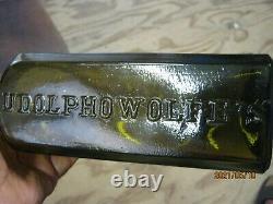 A Show Piece Pontiledblack Glassudolpho Wolfe's Aromatic Schnappsschiedam