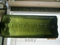 A Top Shelf Beauty J. J. Melchersolive Green Black Glass Aromatic Schnapps