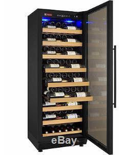 Allavino 115 Bottle Wine Cooler Refrigerator Black Glass Door Wine Cellar Fridge