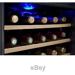 Allavino 34 Bottle Wine Cooler Refrigerator Stainless Steel Glass Door