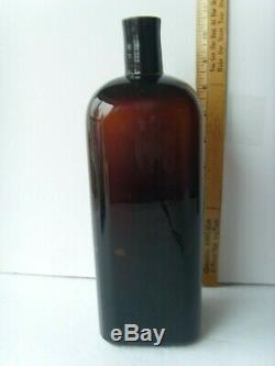 Antiq Black Glass Wm Radam's Microbe KillerCures All Diseases 1880-1900 58/4