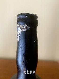 Antique Black Glass Ladies Leg Shipwreck Pirate Bottle