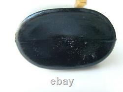 Antique Black Glass Quart Stoddard Type Flask 1860-1870 64/31