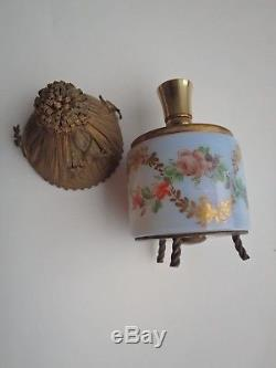 Antique French Opaline Beehive Skepp Perfume Bottle Probaly R. Noir