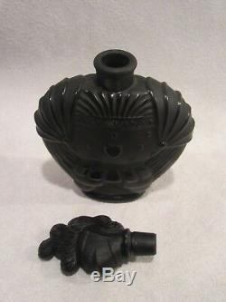Antique Glass French Perfume Bottle Black Knight of the Night RARE circa 1923