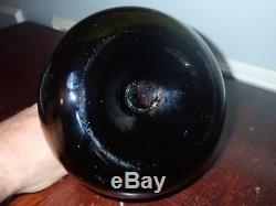 Antique Squat Onion Bottle Black Glass Pontil Scar 17th Century Wine
